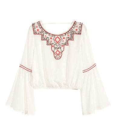 hm embroidered blouse
