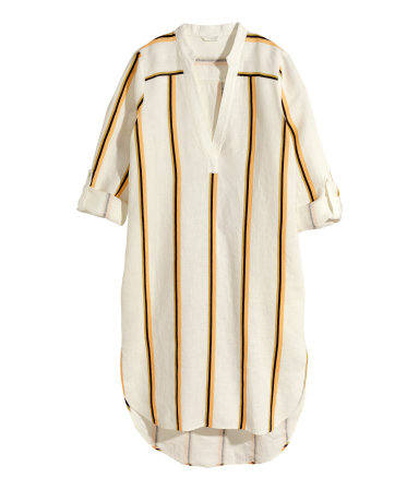 hm stripe linen dress