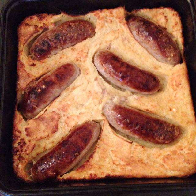 homemade toad in the hole comfort food