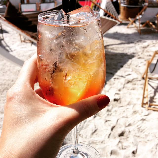 aperol spritz beach bar