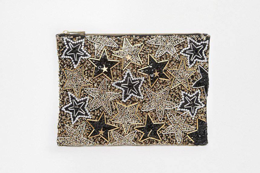asos co-ord star embellished clutch bag