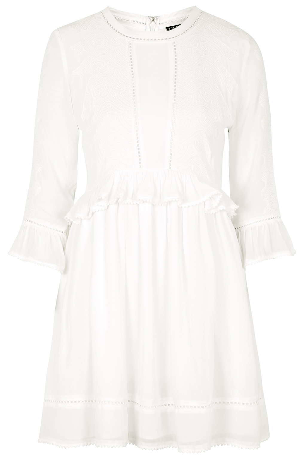topshop embroided victoriana dress