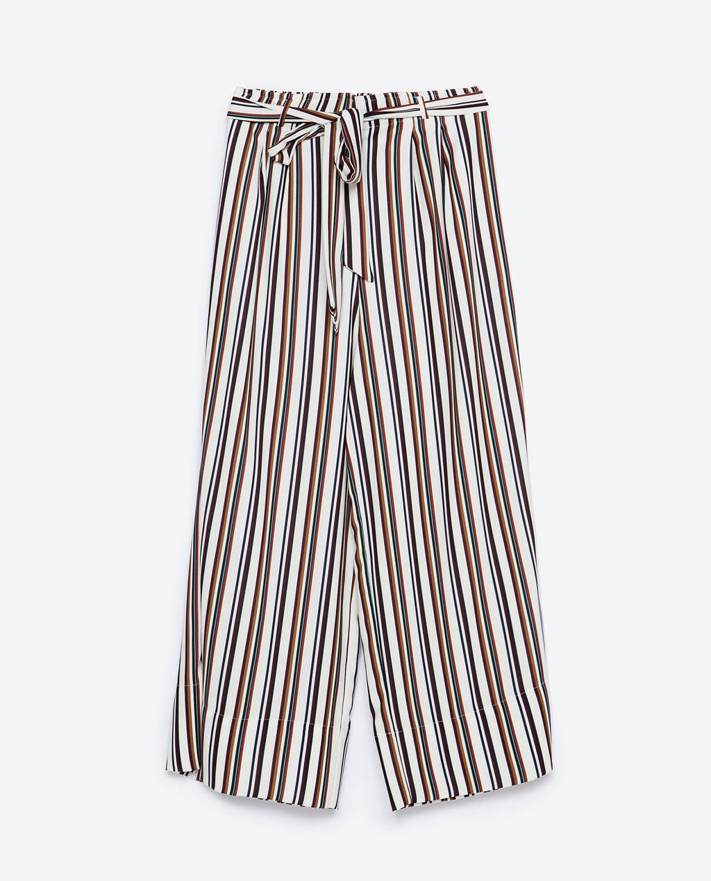 zara cropped flowing trousers