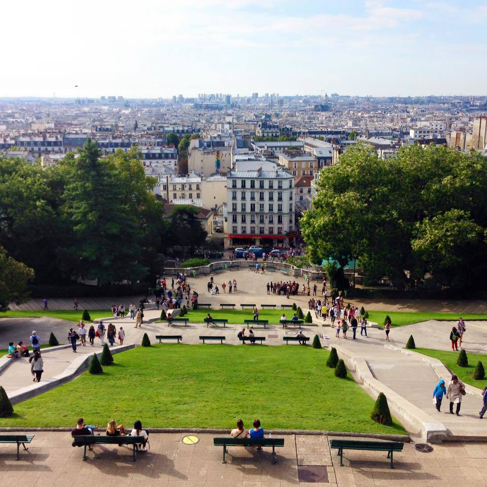 view from the sacre coeur steps paris