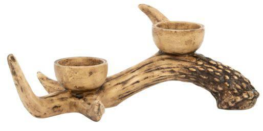 george home wooden antler candle holder