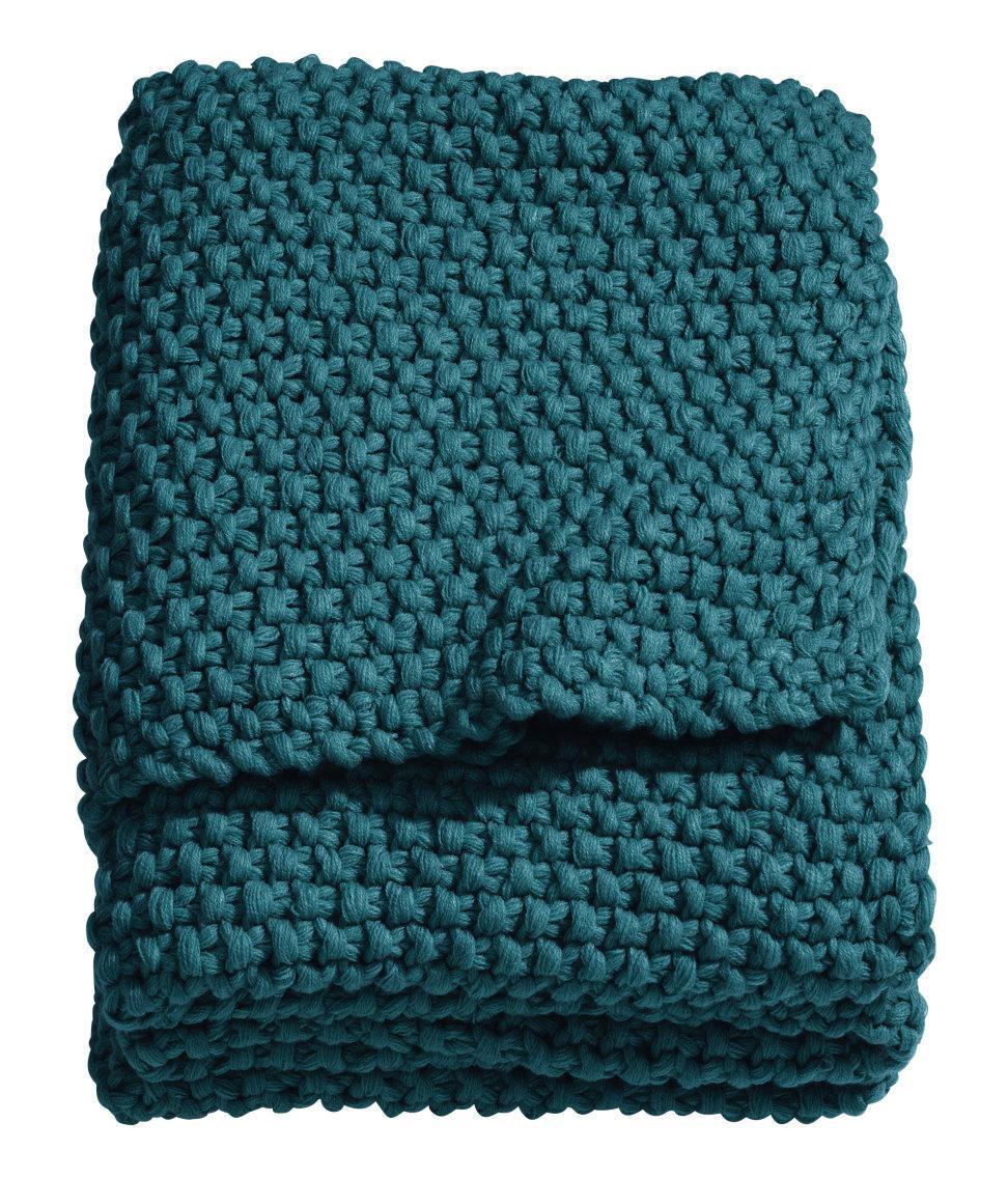 h&m moss-knit blanket homeware