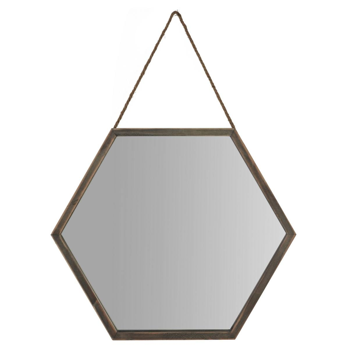 the range hexagonal framed mirror