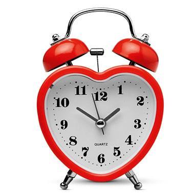 tiger heart shaped clock