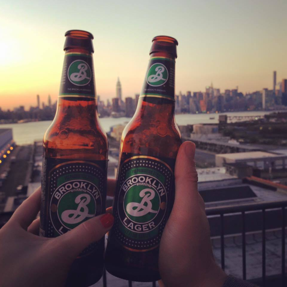 our engagement story brooklyn lager williamsburg hotel wythe rooftop bar sunset