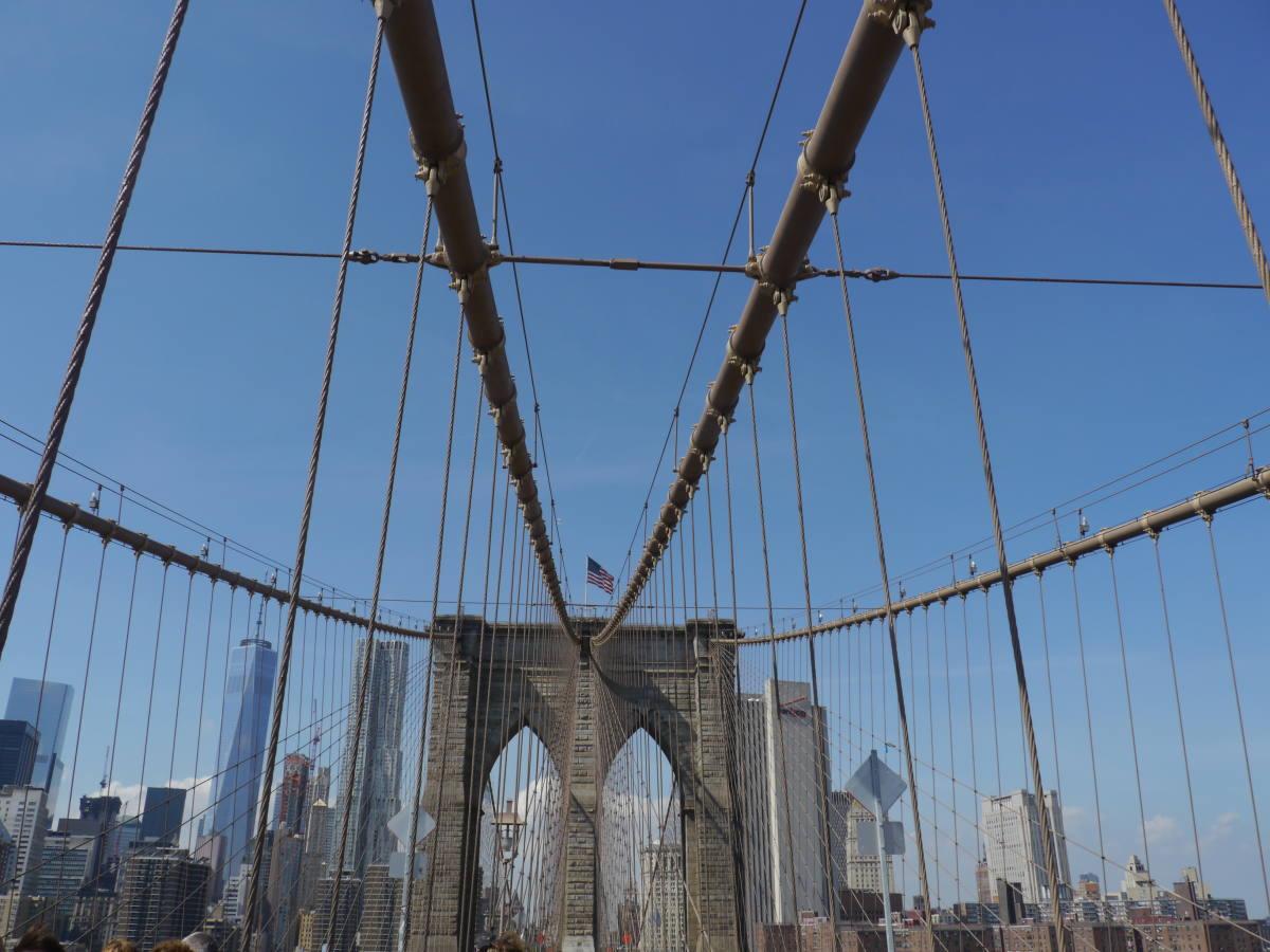 brookly bridge new york manhattan skyline