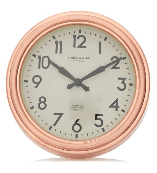 george home copper finish compact wall clock