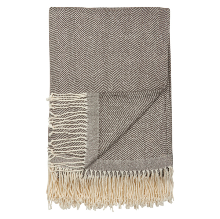 george home herringbone lurex throw