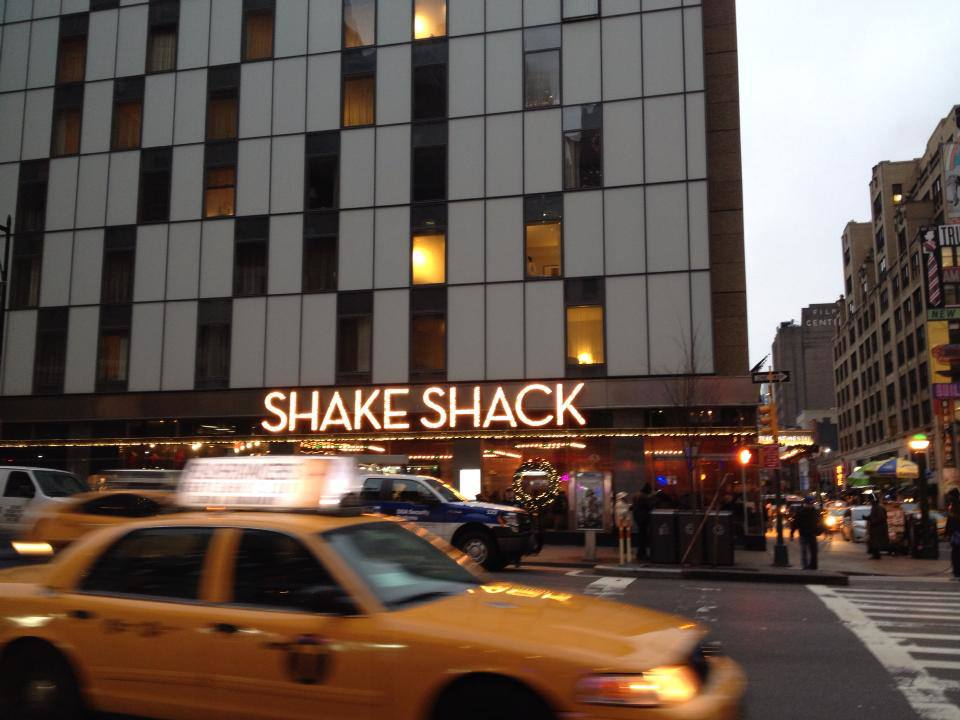 shake shack broadway yellow taxi