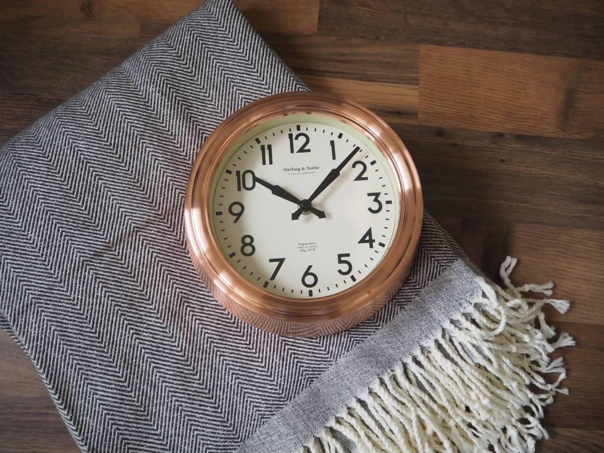 george home throw copper clock