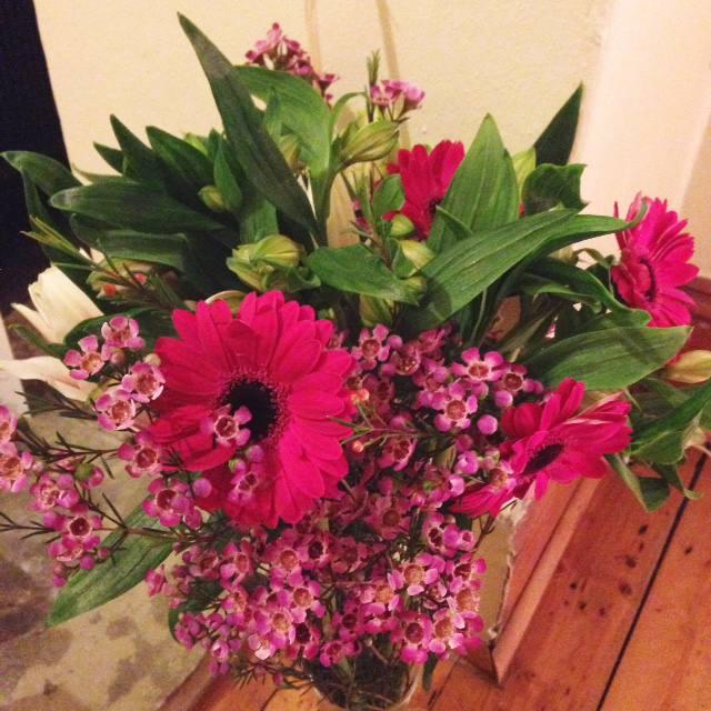 flowers pink bouquet