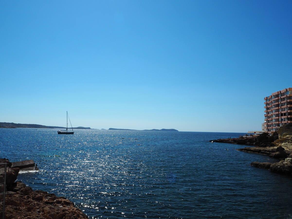 mediterranean coast ibiza blue sea
