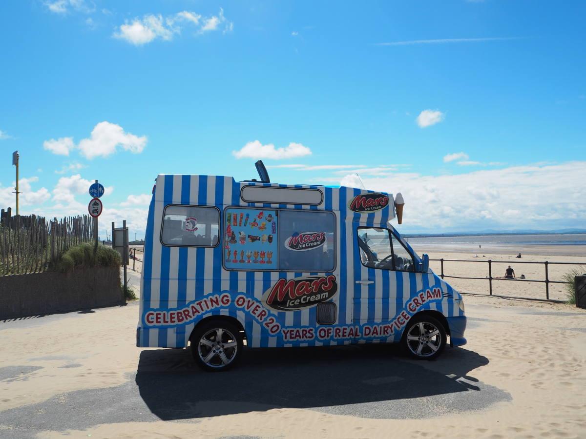 ice cream crosby beach