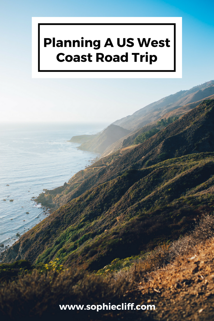 Planning our honeymoon - a US West Coast Road Trip