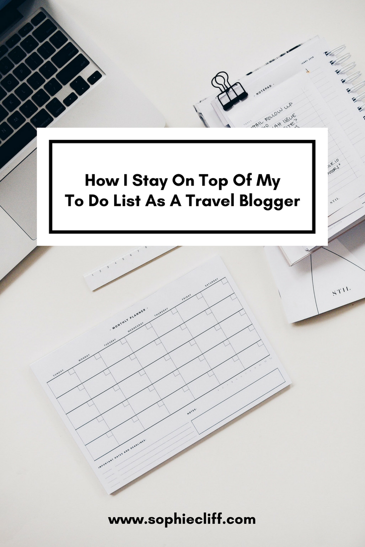 How I Stay On Top Of My To Do List As A Travel Blogger