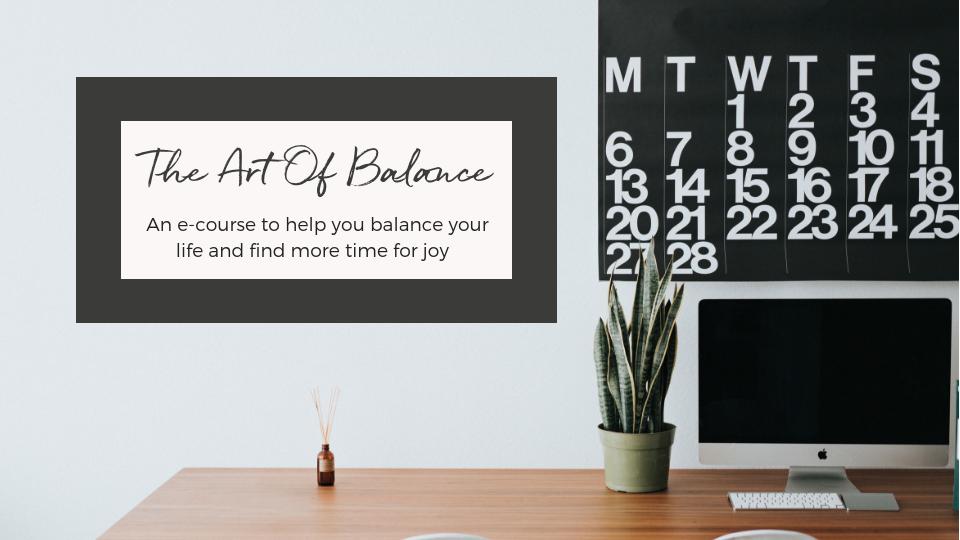 The Art Of Balance e-course