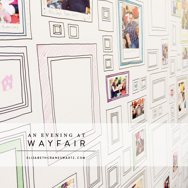 graham & brown 'frames' wallpaper in the wayfair headquarters