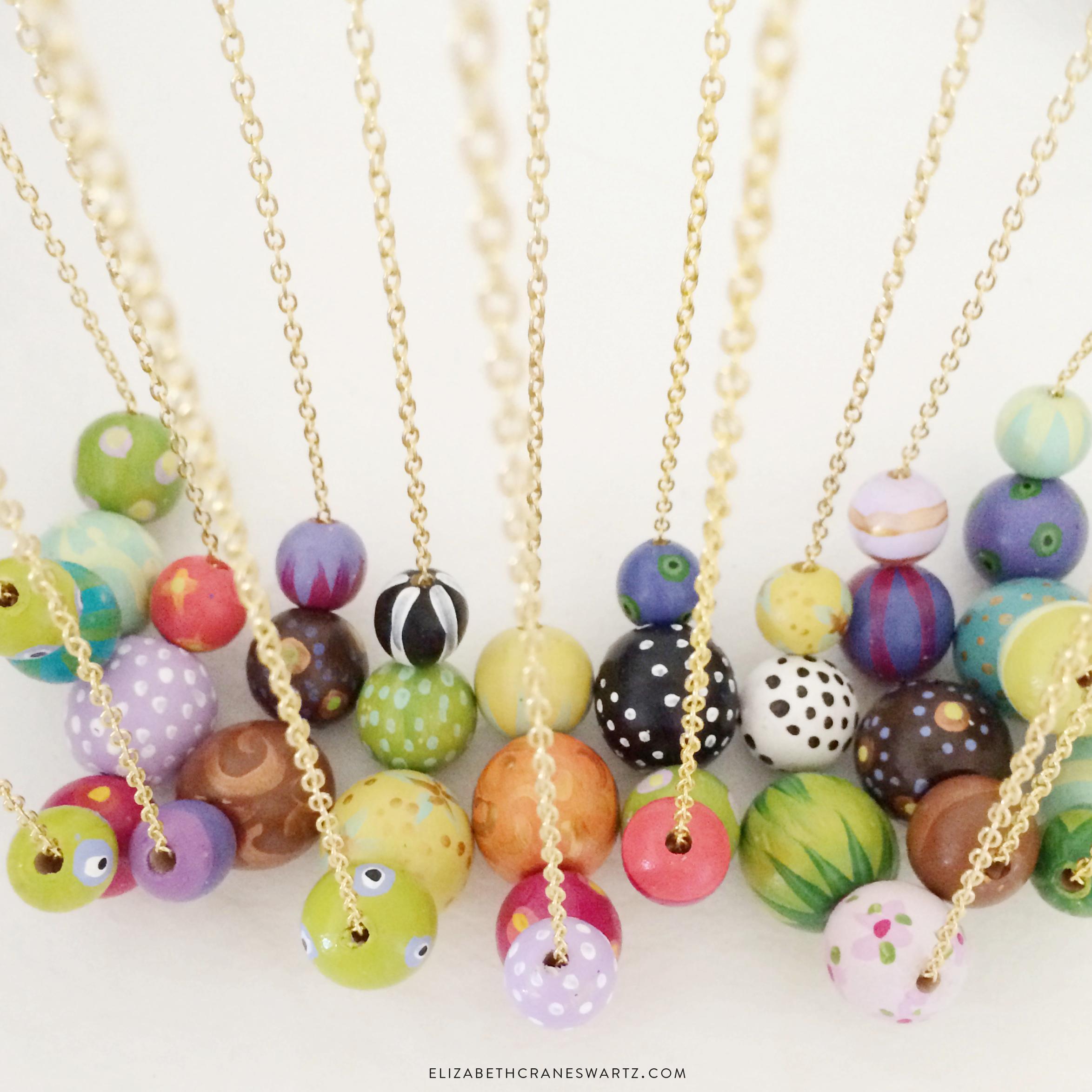 hand painted necklaces / elizabethcraneswartz.bigcartel.com