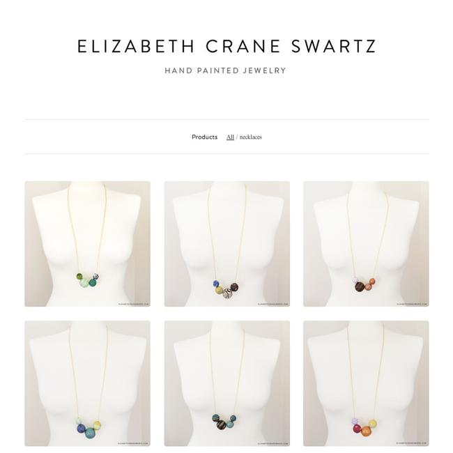 fabulous new sample sale on elizabethcraneswartz.bigcartel.com
