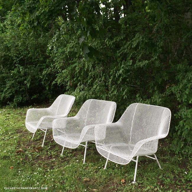 wire chairs / mackinac island / elizabethcraneswartz.com