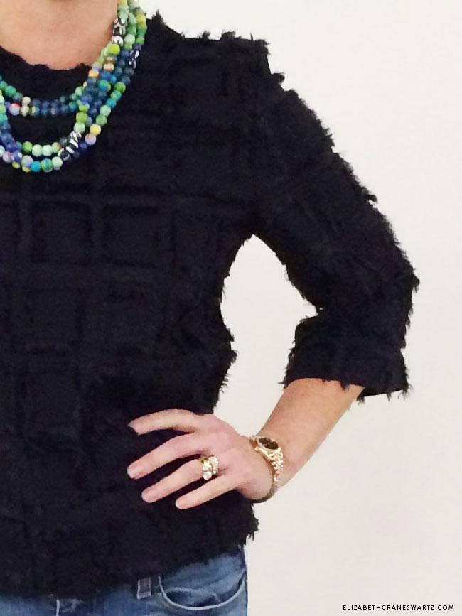 fabulous H&M top with a hand painted original by elizabeth crane swartz