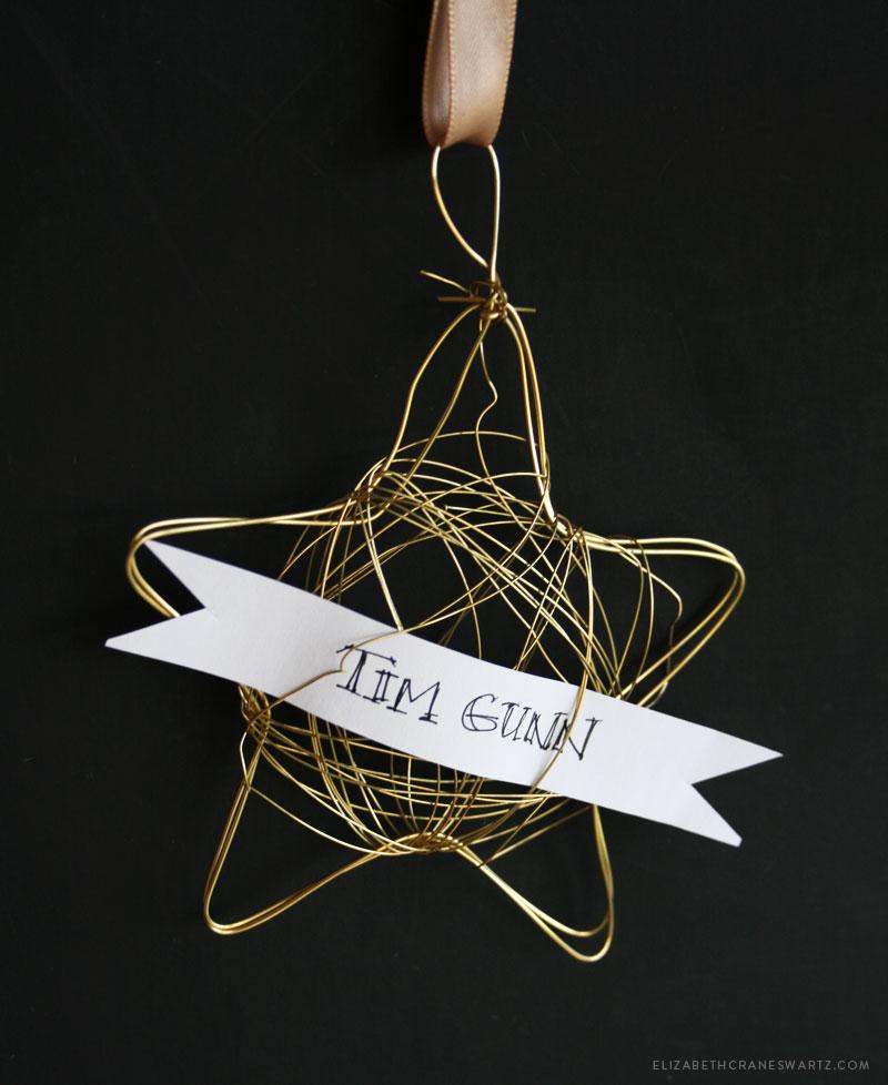 star ornament DIY / elizabethcraneswartz.com