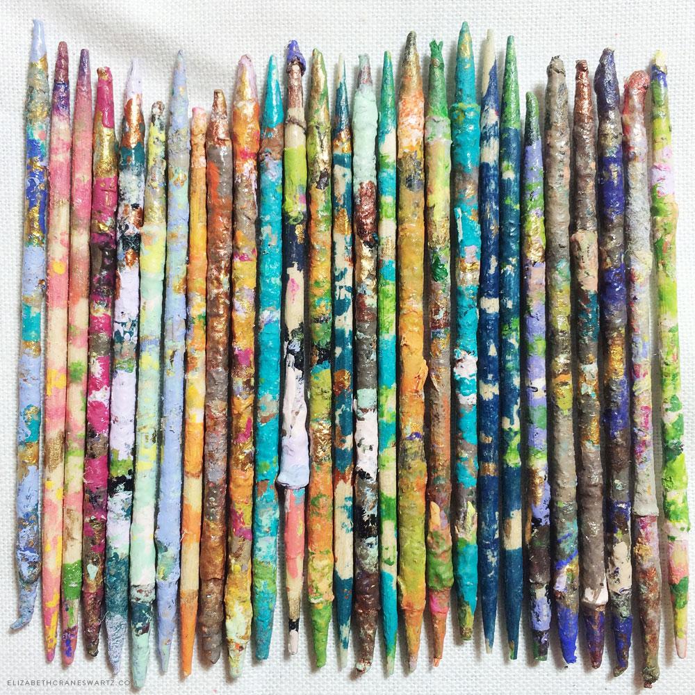 toothpick art / elizabethcraneswartz.com