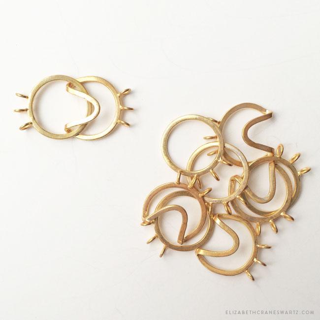 gold vermeil clasps / elizabethcraneswartz.com