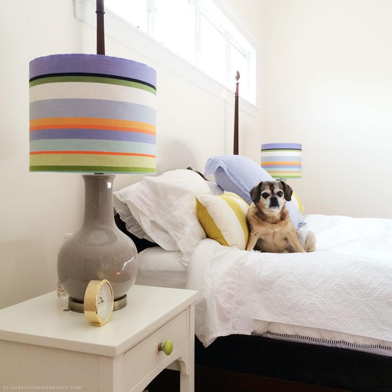 lampshade makeover / elizabethcraneswartz.com