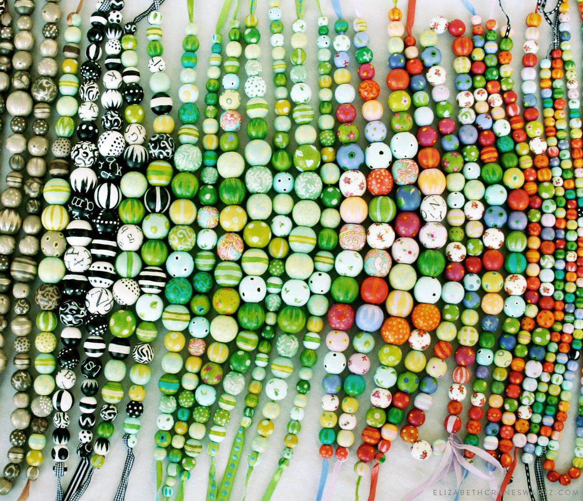hand painted necklaces by elizabeth crane swartz