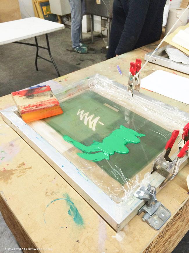 silkscreen class at artisan's asylum / eizabethcraneswartz.com