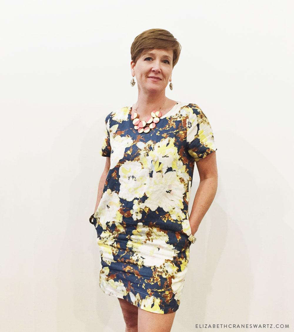 duchess print dress / elizabethcraneswartz.com