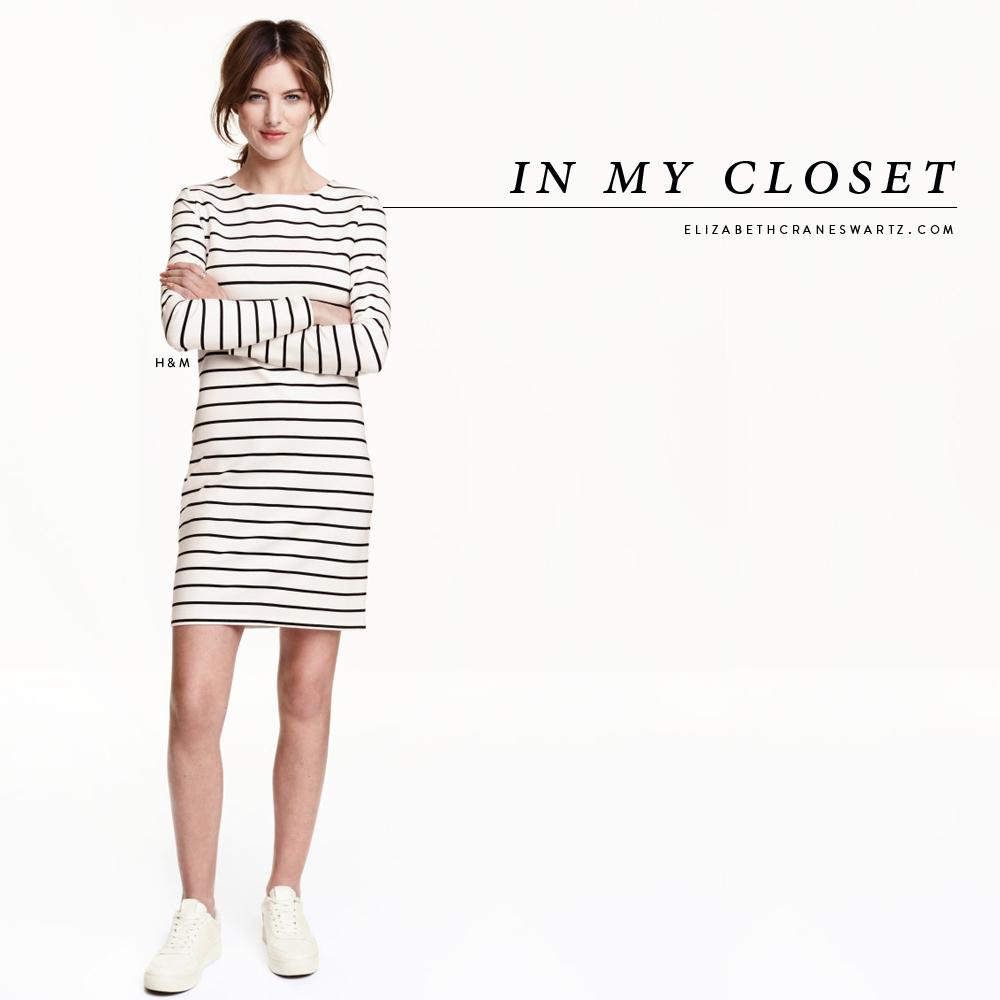 H&M striped dress / elizabethcraneswartz.com