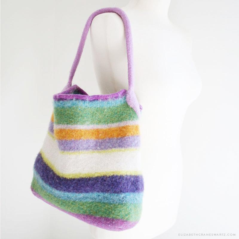 felted bucket bag / elizabethcraneswartz.com