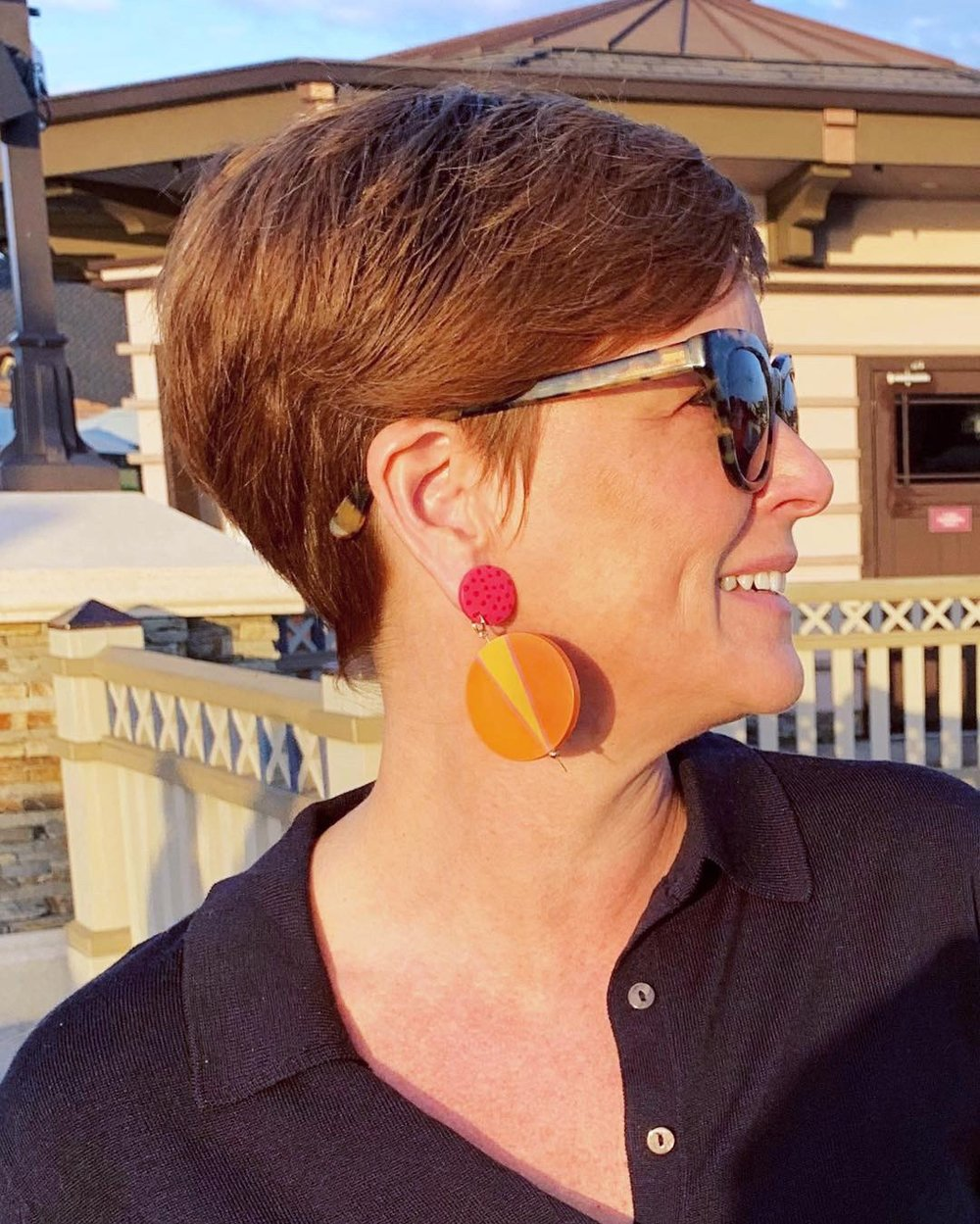 colorful hand painted earrings