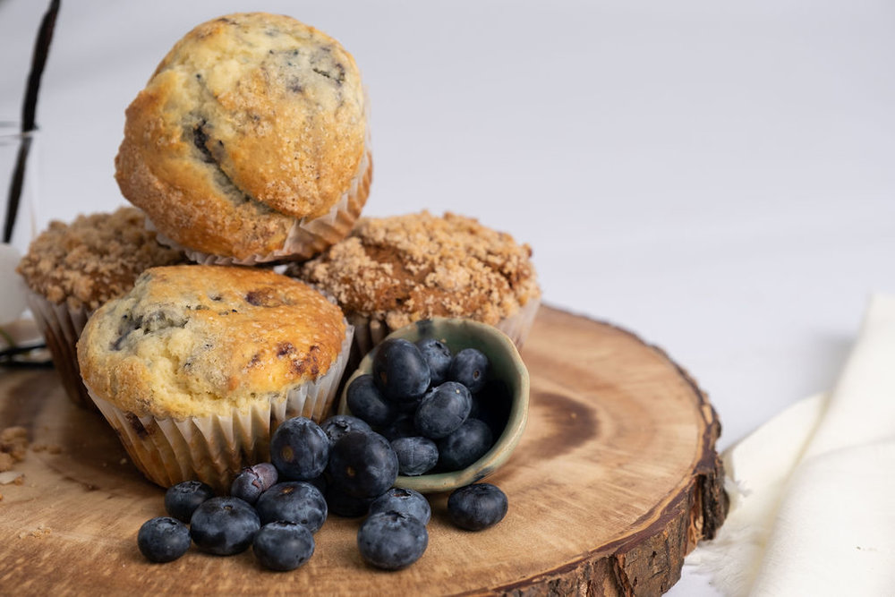 Muffins - Blueberry, Lemon Poppy Seed, Banana Streusel, Morning Glory, the possibilities are endless!
