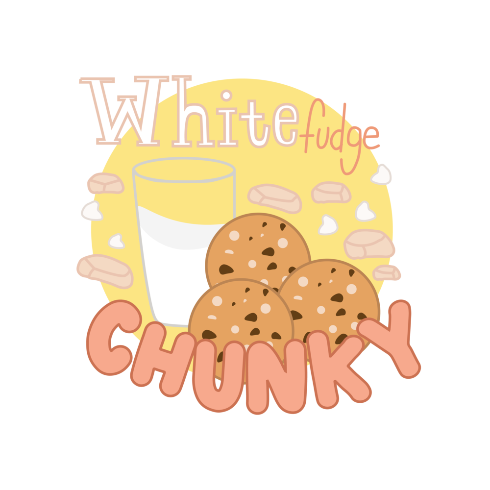 White Fudge Chunky - Utilizing a premiere inside-outside game, this team of gymrats never, ever gives up—unless a glass of milk appears at midcourt.