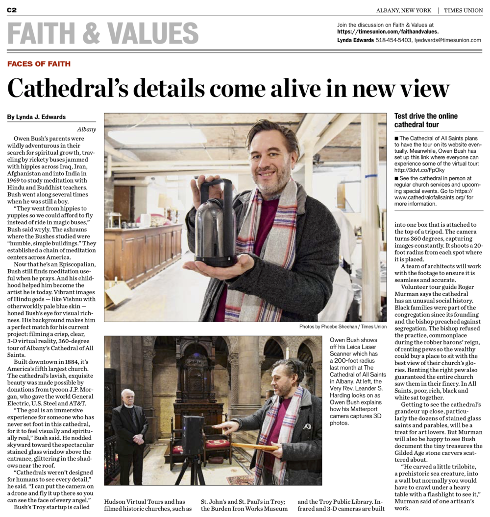 Albany Times Union Feature - Feb 2 2019