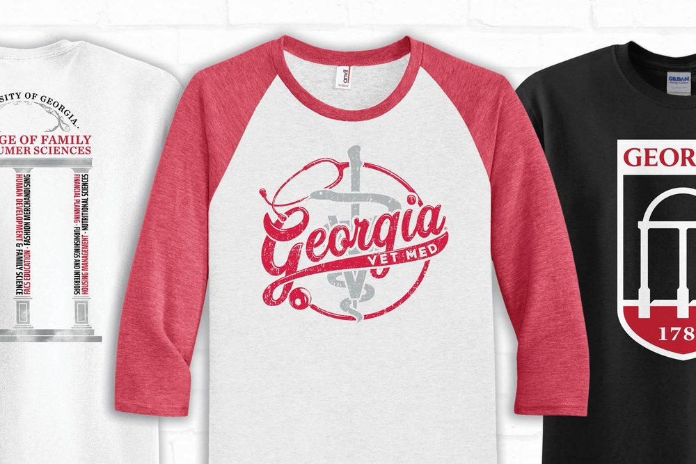 Collegiate & Greek Licensed - We are licensed to print for UGA students, faculty, and organizations, as well as Greek Fraternities and Sororities.