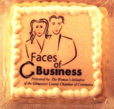 A cookie specially designed for the Faces of Business Launch event!
