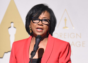 Academy President Cheryl Boone Isaacs speaks at the Oscars Foreign Language Film Award Reception February 20, 2015 in Los Angeles, California. The 87th Oscars will take place on February 22 at Hollywood's Dolby Theatre. AFP PHOTO / ROBYN BECK / AFP / ROBYN BECK
