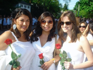 Smith College Ivy Day 2009 pictured here with Nereyda Esparza, Massiell Tercero-Parker, and Caitlin Flynn