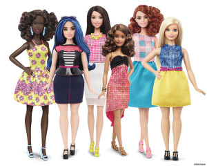 New Barbie doll body shapes of petite, tall and curvy are seen next to the traditional Barbie (L) in a photo released by Mattel on January 28, 2016. Barbie, the world's most famous doll, has a new body. In fact, she has three new bodies - petite, tall and curvy. Some 57 years after the impossibly busty and narrow-waisted blue-eyed Barbie doll was first introduced, California-based toy maker Mattel on Thursday released the new models, which it says better reflect a changing world. REUTERS/Mattel/Handout via ReutersATTENTION EDITORS - THIS PICTURE WAS PROVIDED BY A THIRD PARTY. REUTERS IS UNABLE TO INDEPENDENTLY VERIFY THE AUTHENTICITY, CONTENT, LOCATION OR DATE OF THIS IMAGE. FOR EDITORIAL USE ONLY. NOT FOR SALE FOR MARKETING OR ADVERTISING CAMPAIGNS. THIS PICTURE IS DISTRIBUTED EXACTLY AS RECEIVED BY REUTERS, AS A SERVICE TO CLIENTS. NO SALES. NO RESALES. NO ARCHIVE.