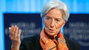 IMF managing director Christine Lagarde says men need to seek out strong women candidates for positions.