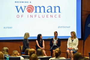 Ava Parker, president of Palm Beach State College, (third from left) says that women networking with women helps you get the job done.