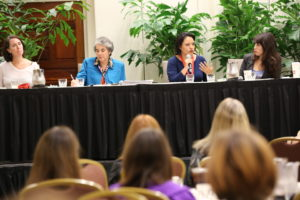 This is a recent panel at Journalism and Women Symposium, the group that offers a roster of female leaders in journalism to solve the all-male panel problem.